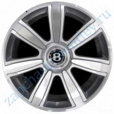 Set 4 PCs 21 inch 7-spoke aluminum wheels and caps (3w0601025crset)