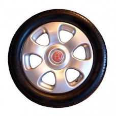 Used set of four wheels and tyres 6-spoke, 8 x 18-duumvirate red label (pd56206wtsetu)