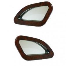 Pair veneered rear view mirrors (pv56849/50pcu)