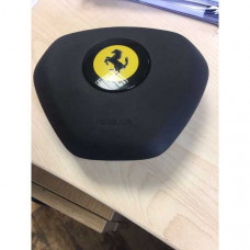The airbag in the steering wheel on the Ferrari 458,F, 12,FF DRIVER AIRBAG COVER - Abdeckung 829659