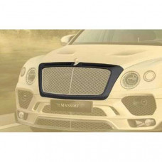 Front grill mask for B sculpture visible carbon fibre primed (BBE102341) on Bentley Bentayga
