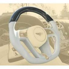 Sport steering wheel with mansory logo leather/wood (BBE351445) on Bentley Bentayga