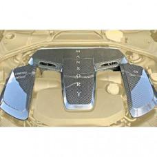 Engine carbon cover V12 (BFS00099) on Bentley Flying Spur