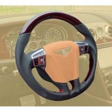 Sport steering wheel leather/wood (505351445) on Bentley Continental