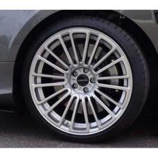 """M10 wheel 21 inch (Silver diamond cut) 1pc., 10.5 x 21"""" OS 30 Dark grey / fr. Polished (8808210030) on Bentley Continental"""