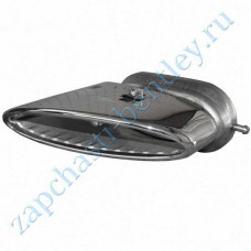The end portion of the muffler, right, chrome (3w0253682f)